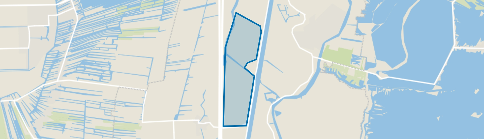 Polder Angstelkade, Nieuwersluis map