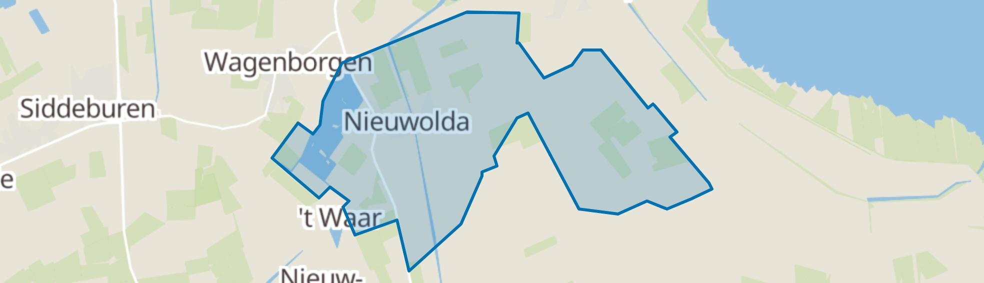 Nieuwolda map