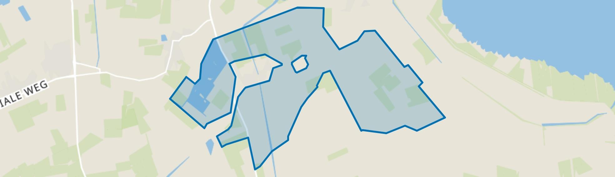 Verspreide huizen Nieuwolda, Nieuwolda map