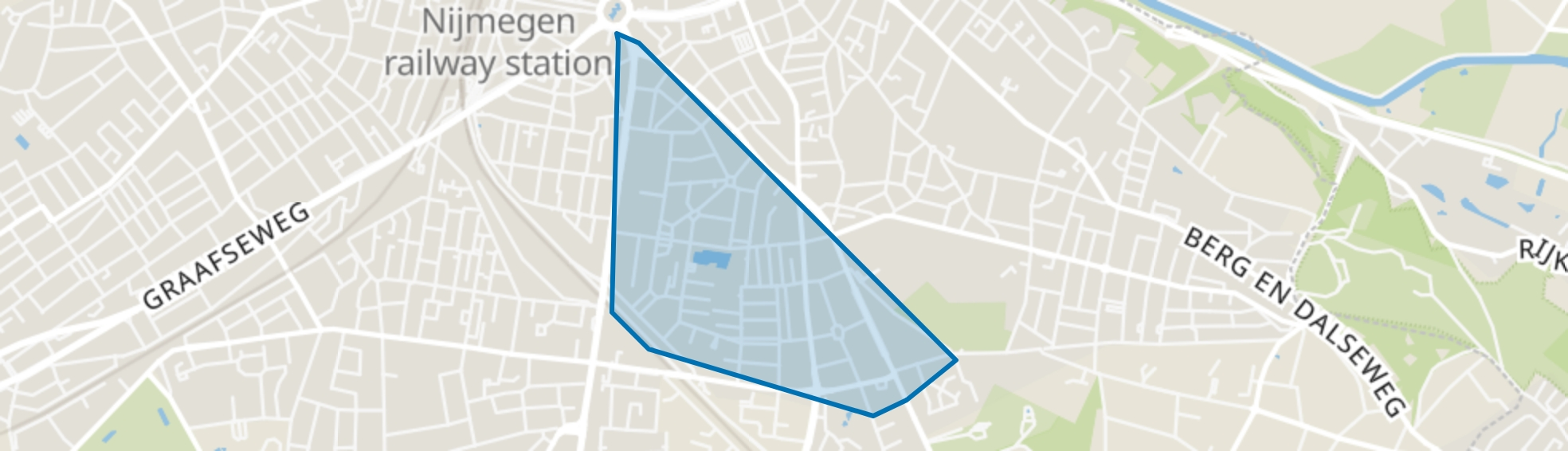 Galgenveld, Nijmegen map