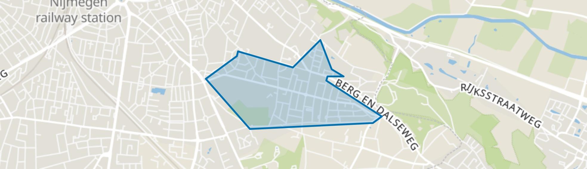 Hengstdal, Nijmegen map