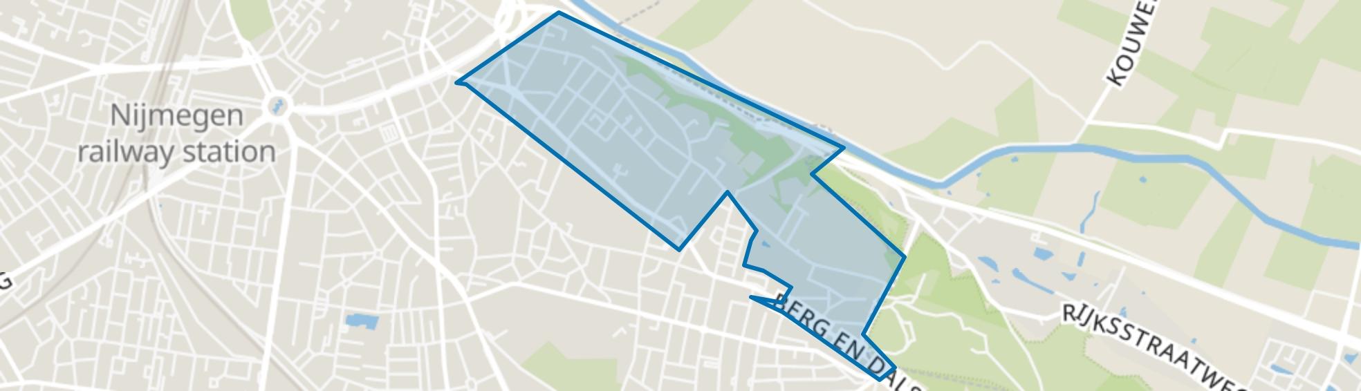 Hunnerberg, Nijmegen map