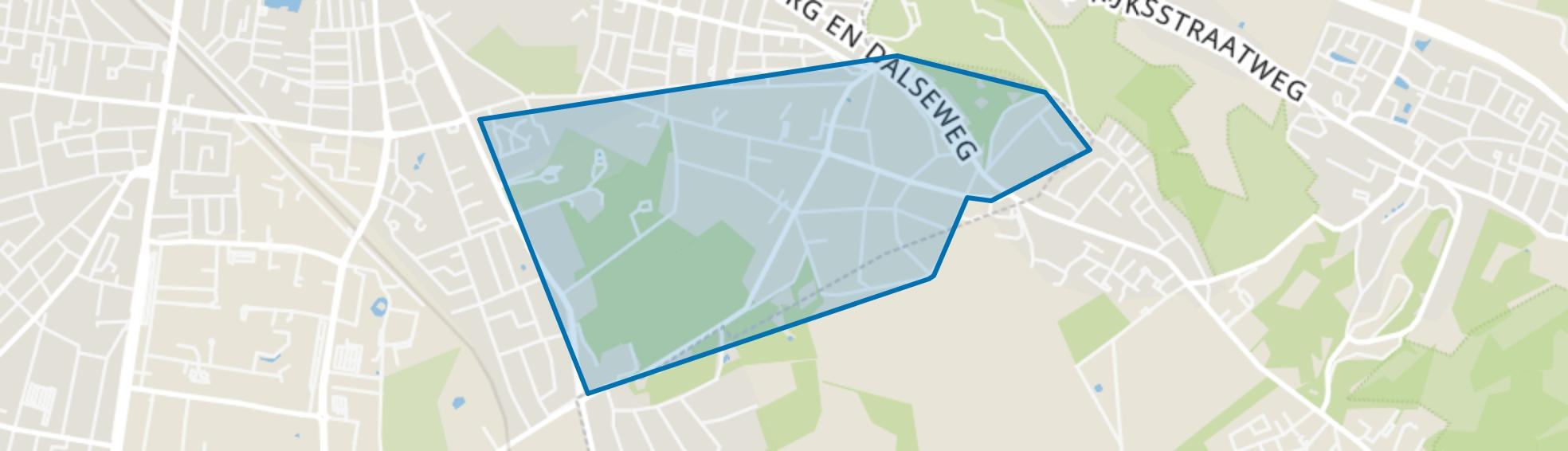 Kwakkenberg, Nijmegen map