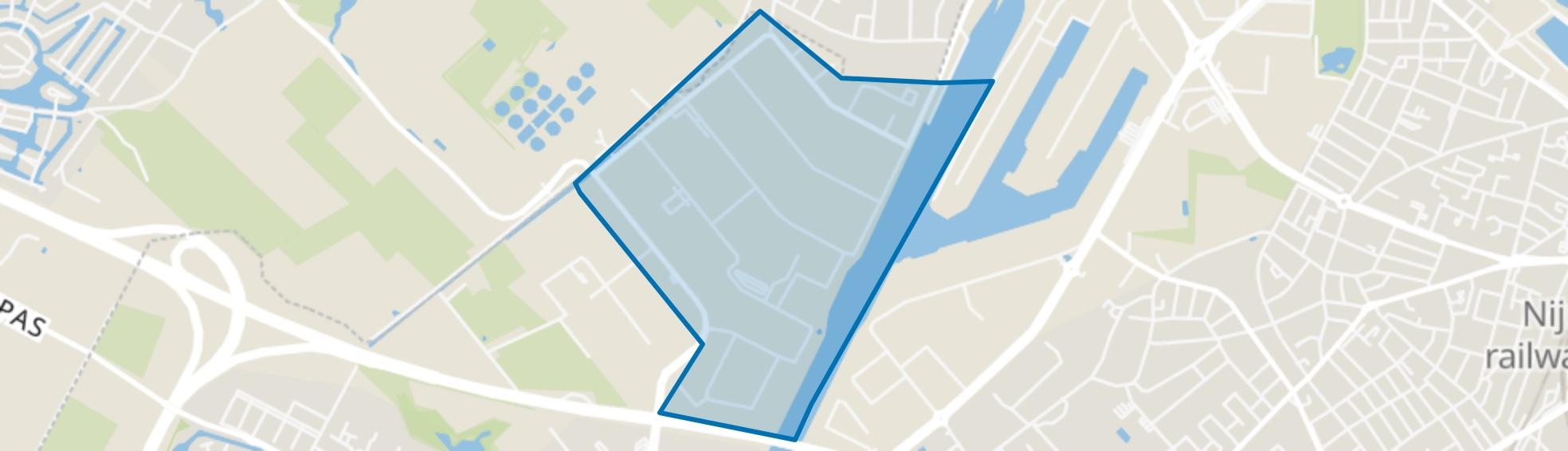 Westkanaaldijk, Nijmegen map