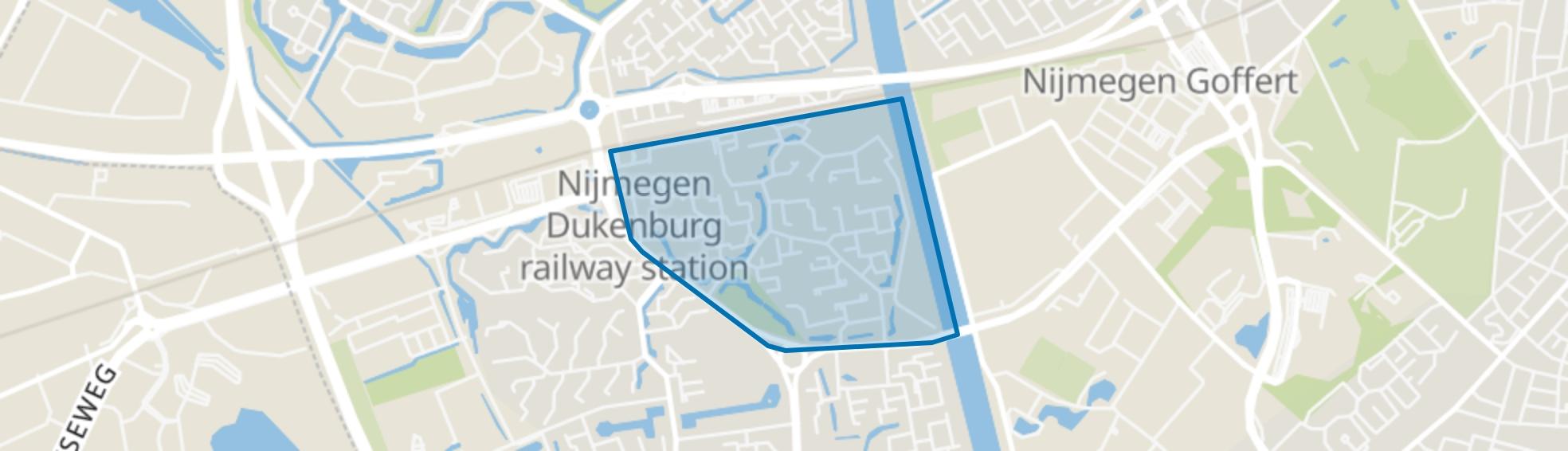 Zwanenveld, Nijmegen map