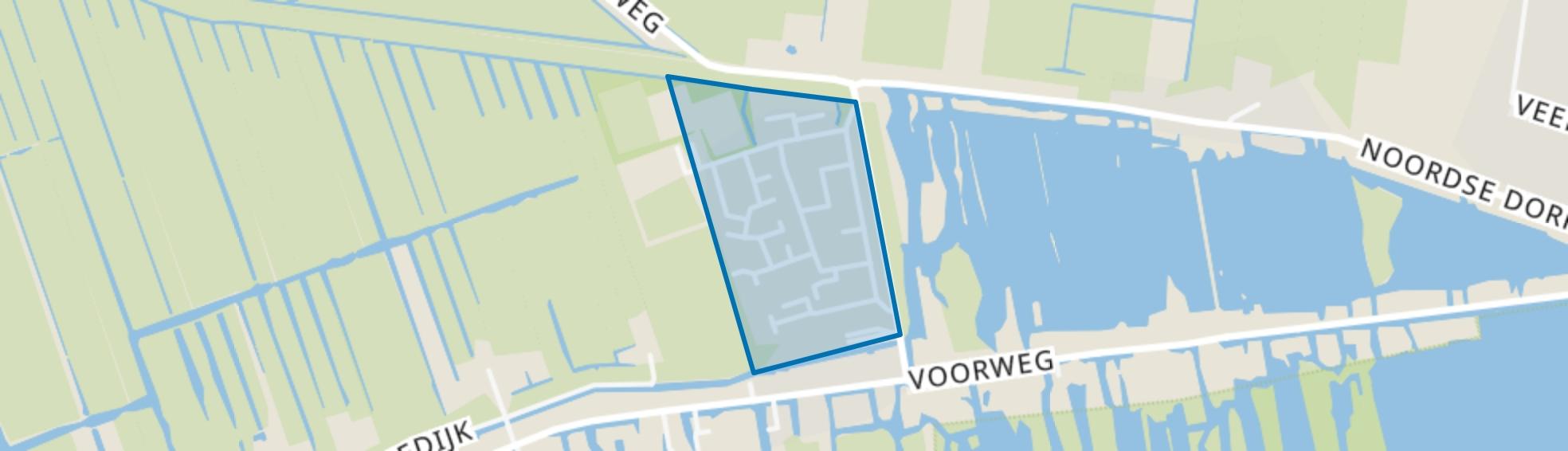 Uitbreiding dorpskern Noorden, Noorden map