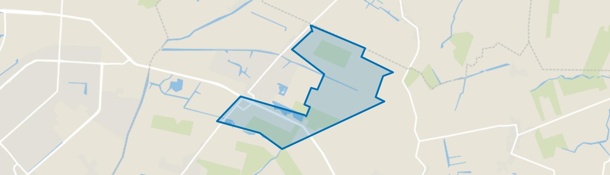 Obdam Verspreide huizen Oost, Obdam map