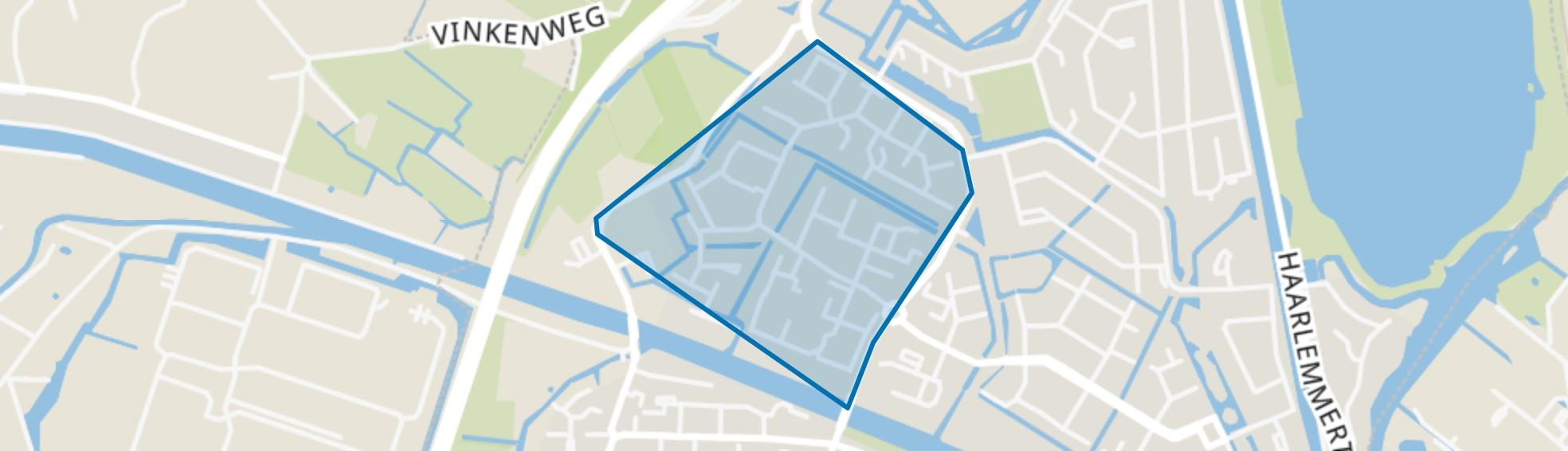 Haaswijk-West, Oegstgeest map