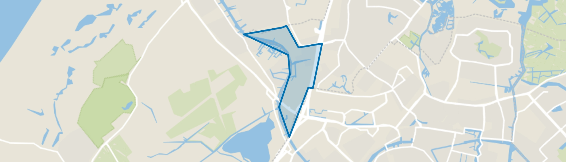 Rijnfront, Oegstgeest map