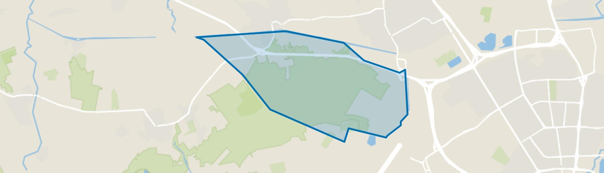 Verspreide huizen Zuid-Oirschotse Heide, Oirschot map