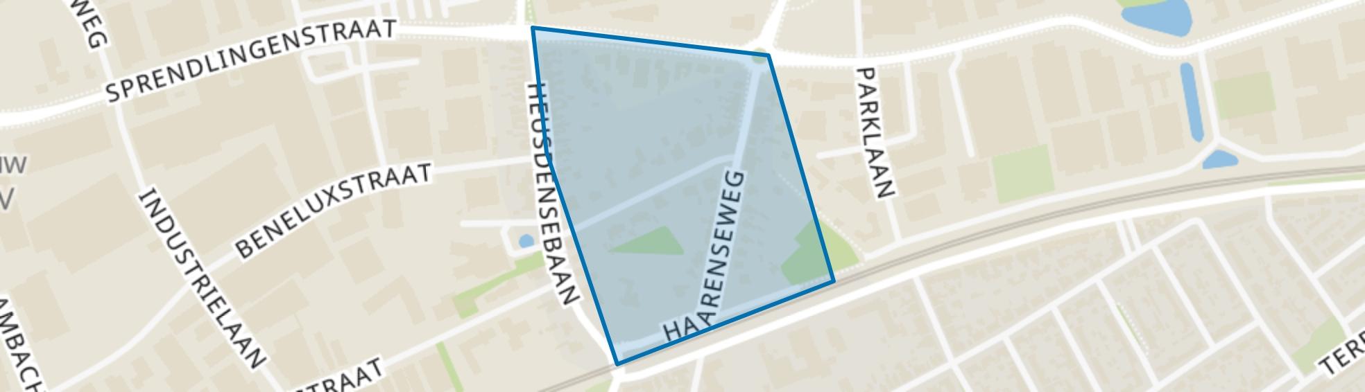 Omgeving George Perklaan, Oisterwijk map