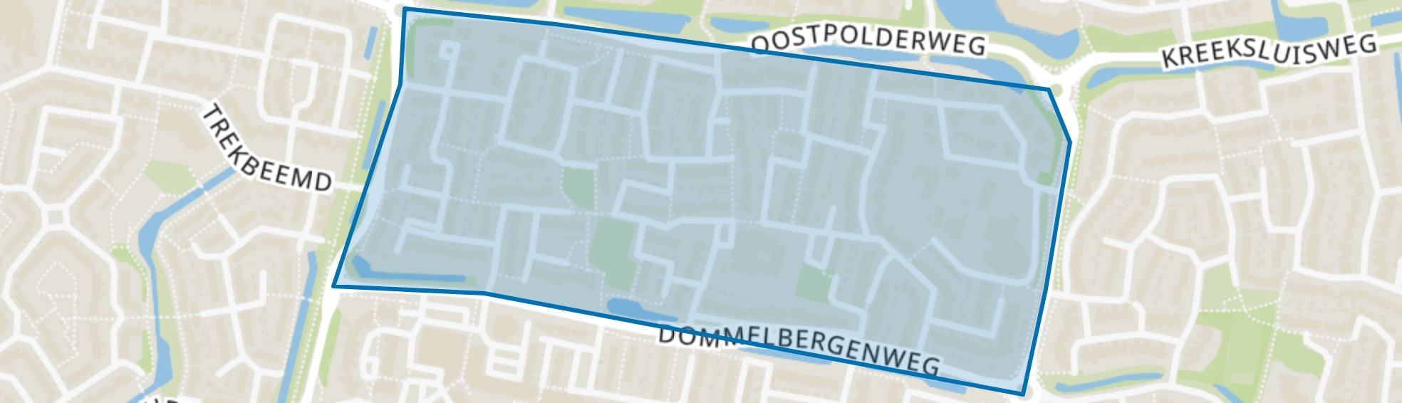 Larenbuurt, Oosterhout (NB) map