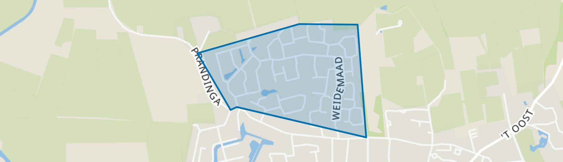 Oosterwolde-Maden, Oosterwolde (FR) map