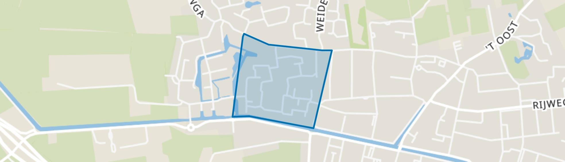 Oosterwolde-Prandinga, Oosterwolde (FR) map