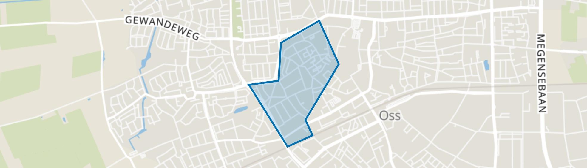 Centrum-West, Oss map