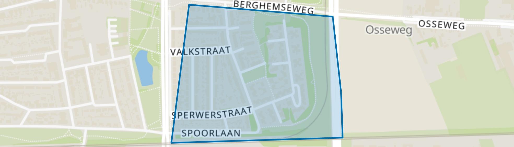 Roofvogelbuurt, Oss map