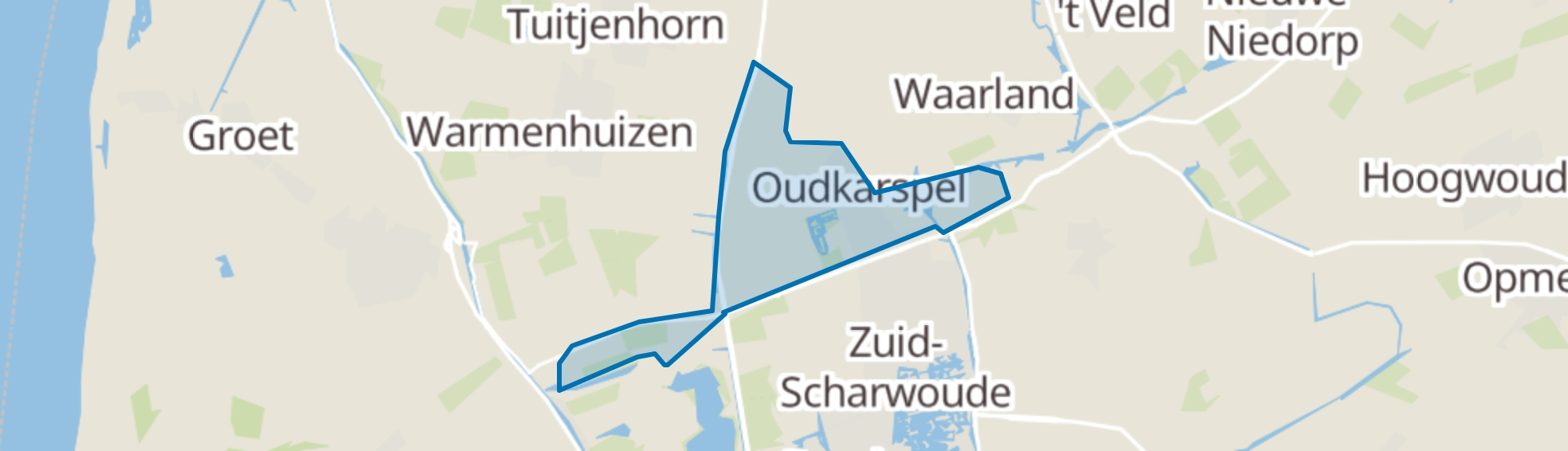 Oudkarspel (Gem. Langedijk) map