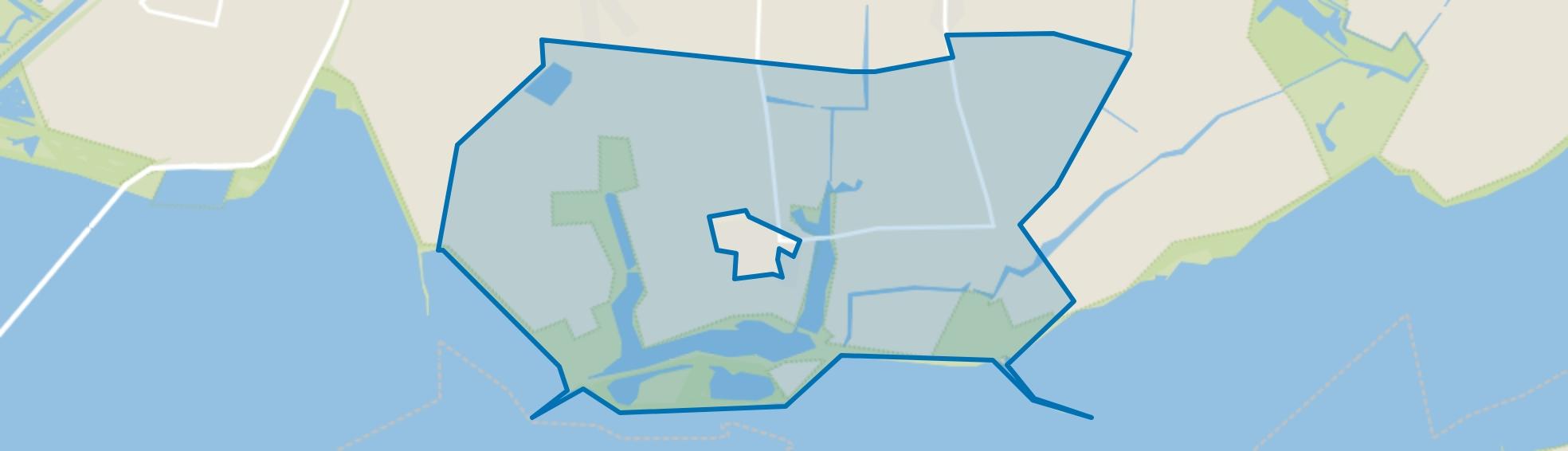 Verspreide huizen Ouwerkerk, Ouwerkerk map