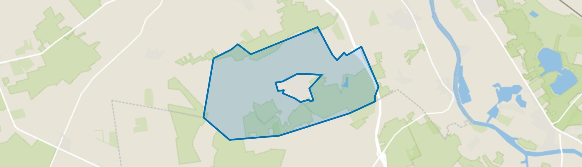 Verspreide huizen Overloon, Overloon map