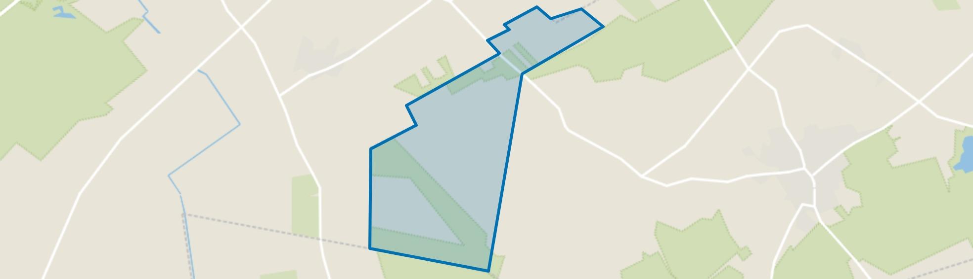 Verspreide huizen Westerbeek, Overloon map
