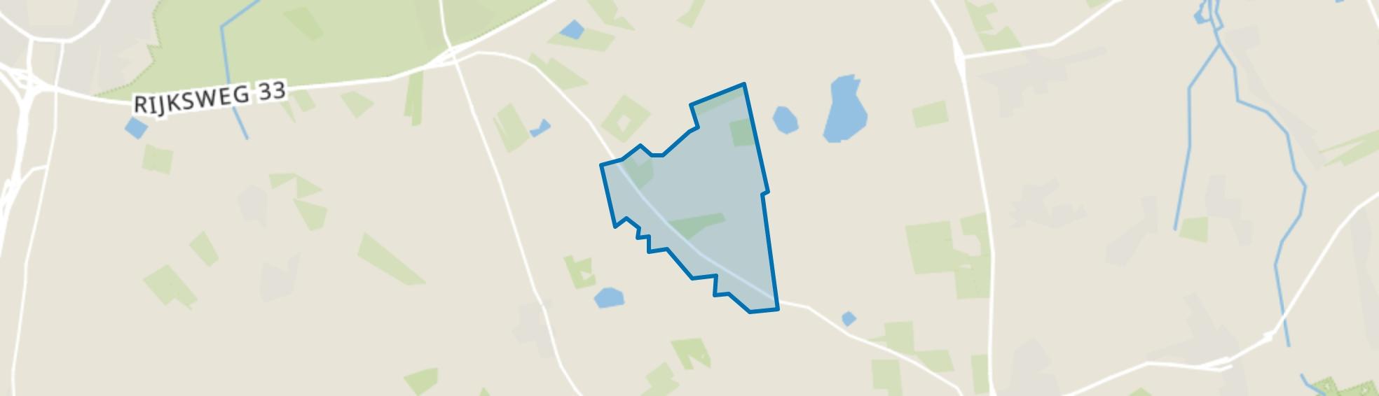 Verspreide huizen Papenvoort, Papenvoort map