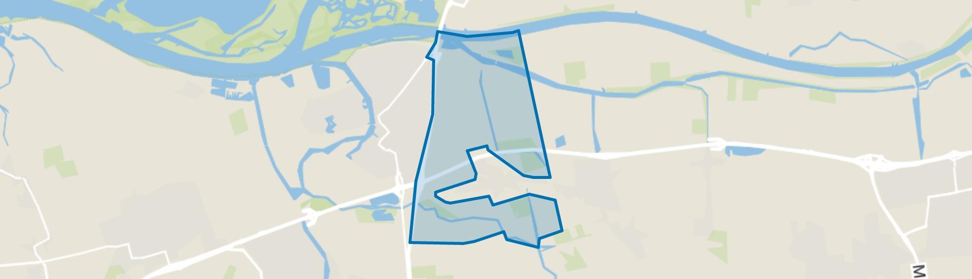 Verspreide huizen Raamsdonk, Raamsdonk map
