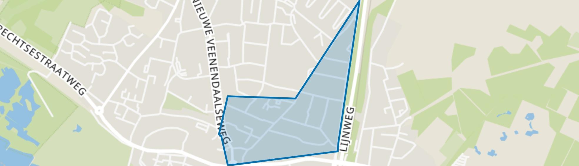 Bruine Eng, Rhenen map