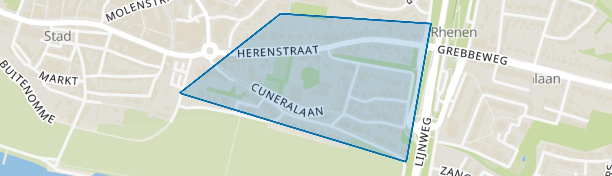 Cunera, Rhenen map