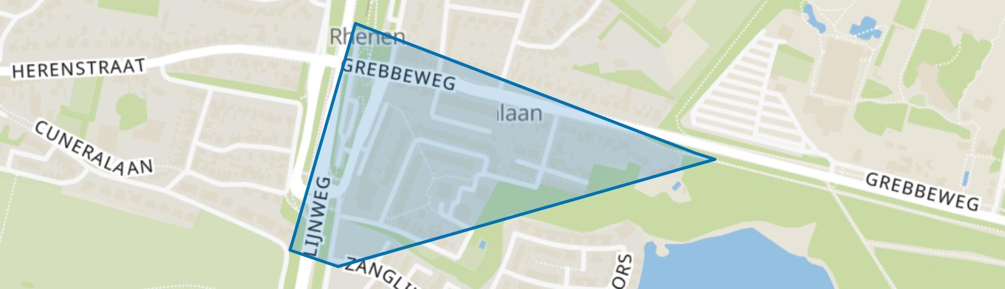 Grebbekwartier Zuid, Rhenen map