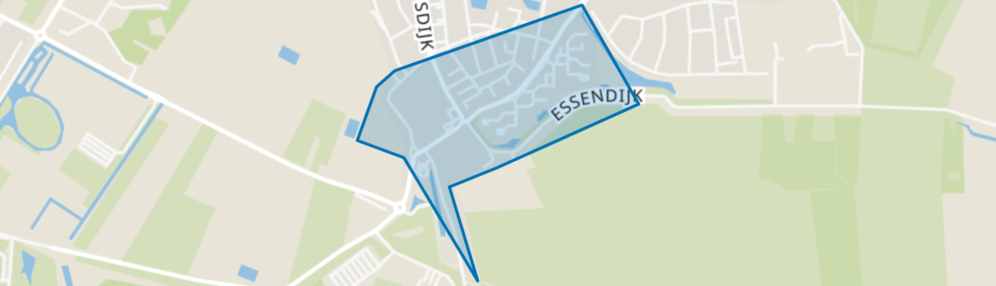 Tijsjesdijk, Rhoon map