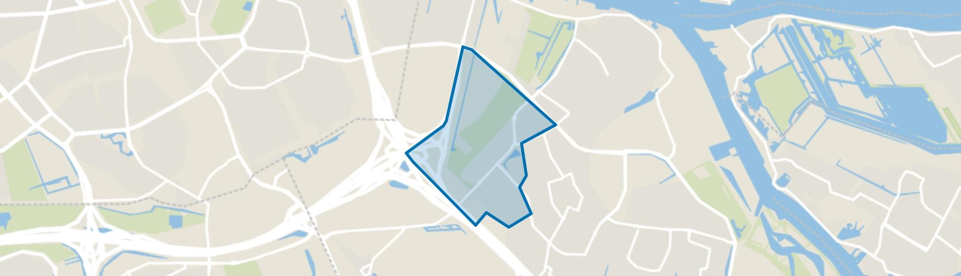 West, Ridderkerk map