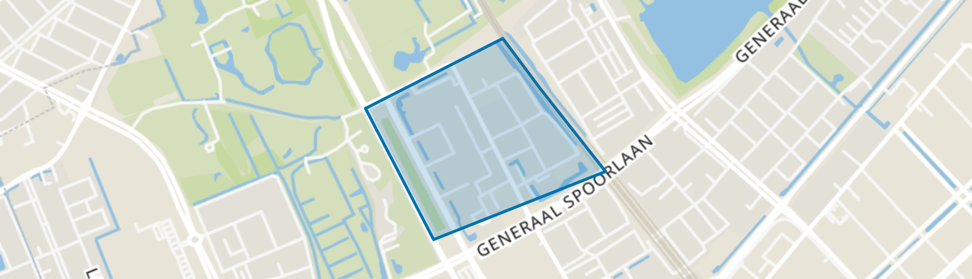 Kleurenbuurt, Rijswijk (ZH) map