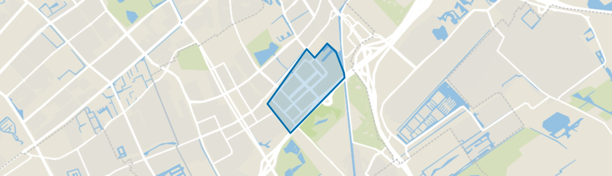 Plaspoelpolder, Rijswijk (ZH) map