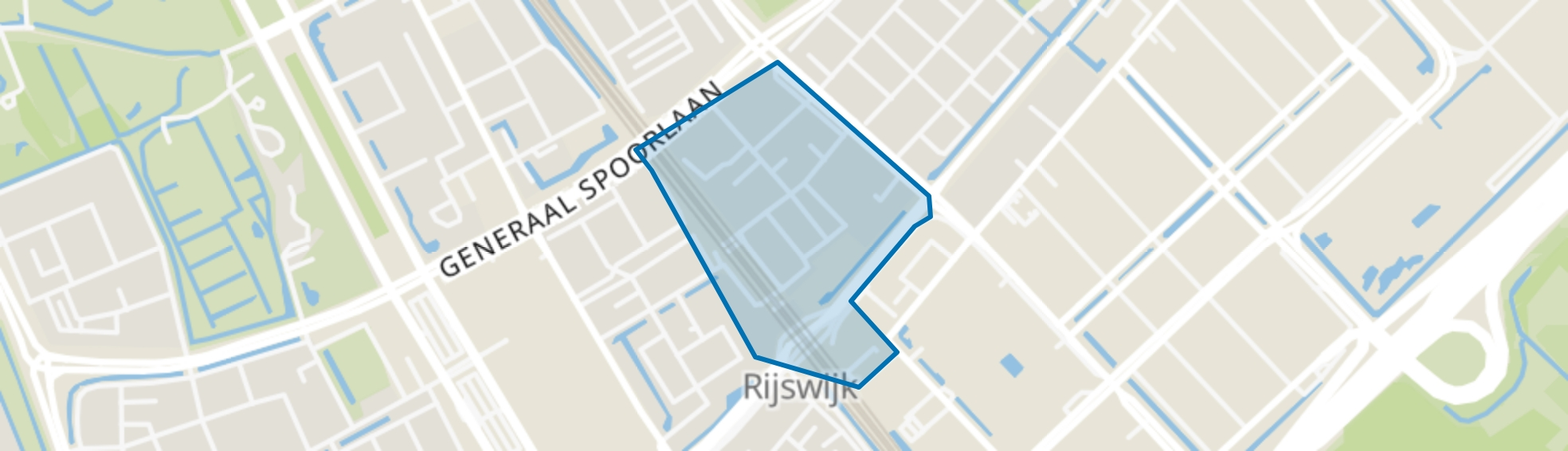 Stationskwartier, Rijswijk (ZH) map