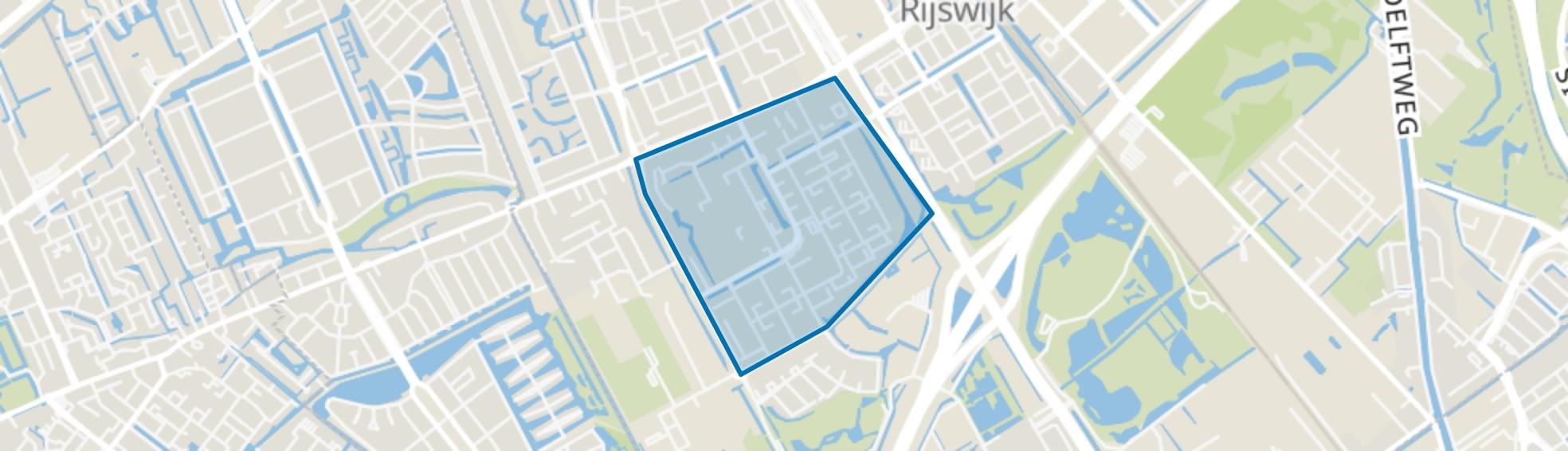Stervoorde, Rijswijk (ZH) map