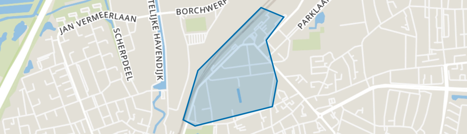 Stationsbuurt, Roosendaal map
