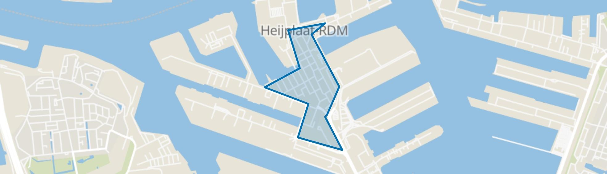 Heijplaat, Rotterdam map