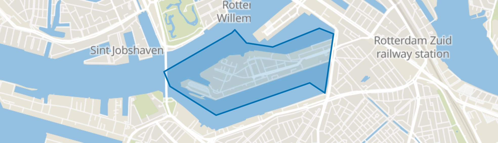 Katendrecht, Rotterdam map