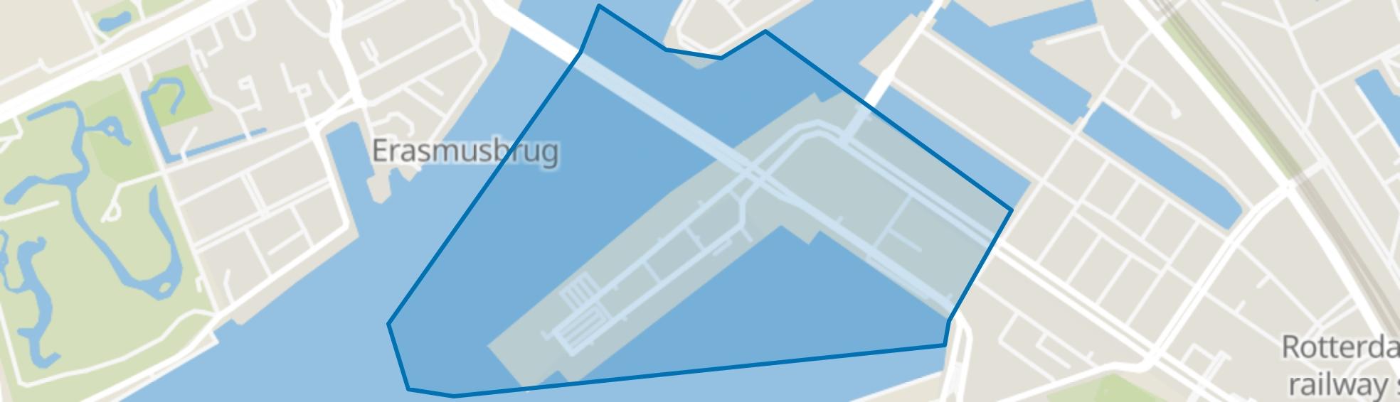 Kop van Zuid, Rotterdam map