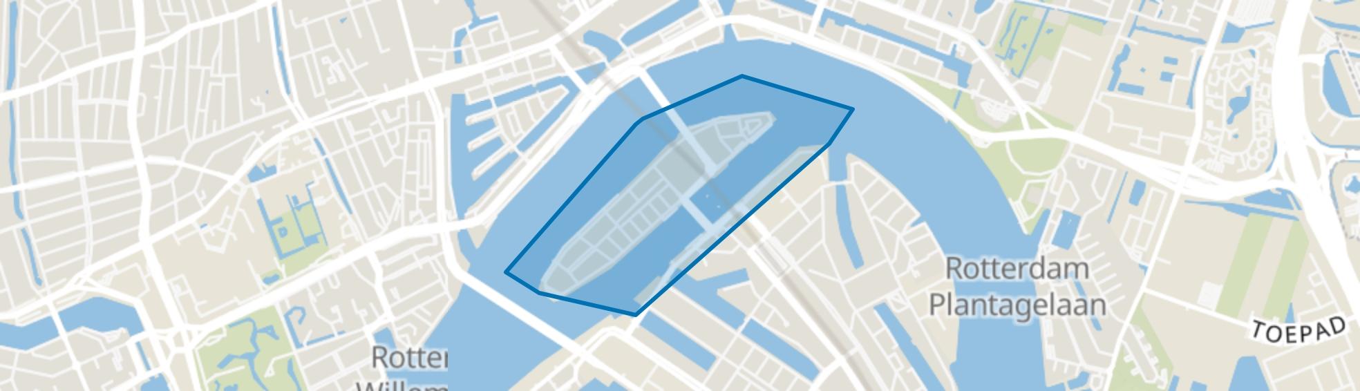Noordereiland, Rotterdam map