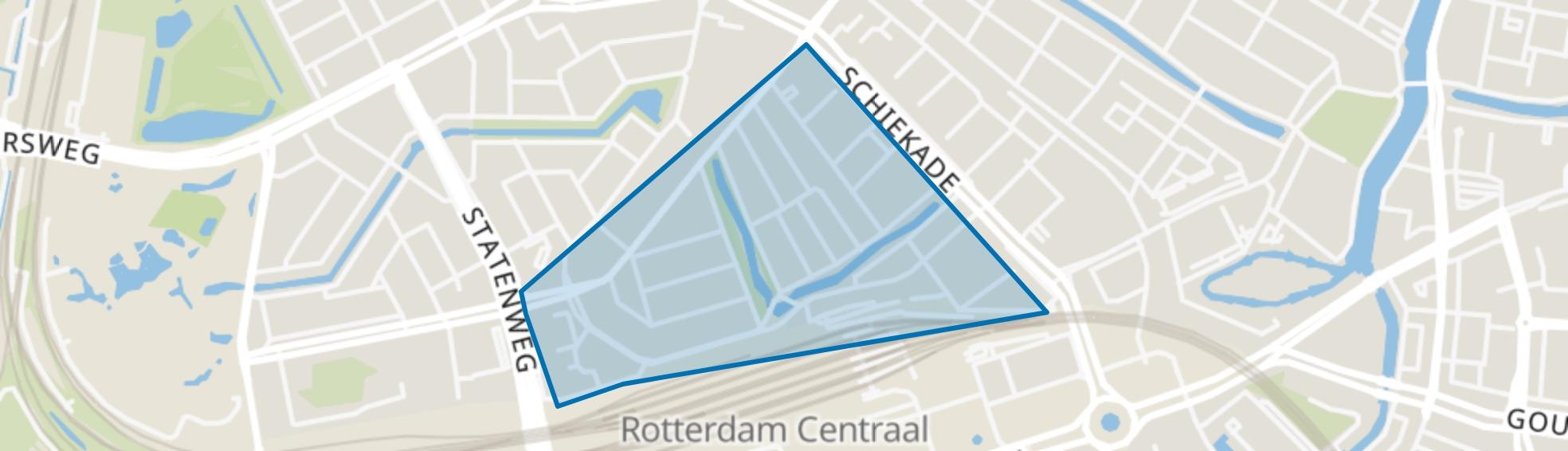 Provenierswijk, Rotterdam map