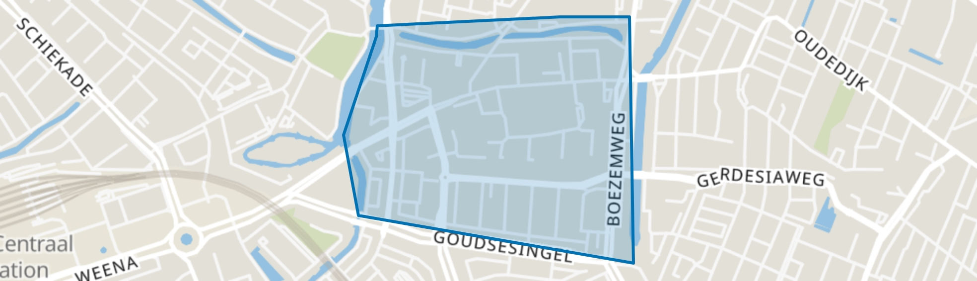 Rubroek, Rotterdam map