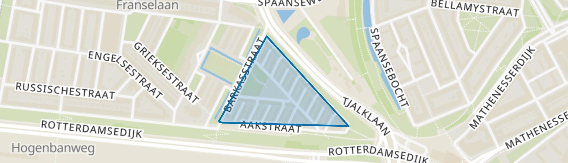 Witte Dorp, Rotterdam map
