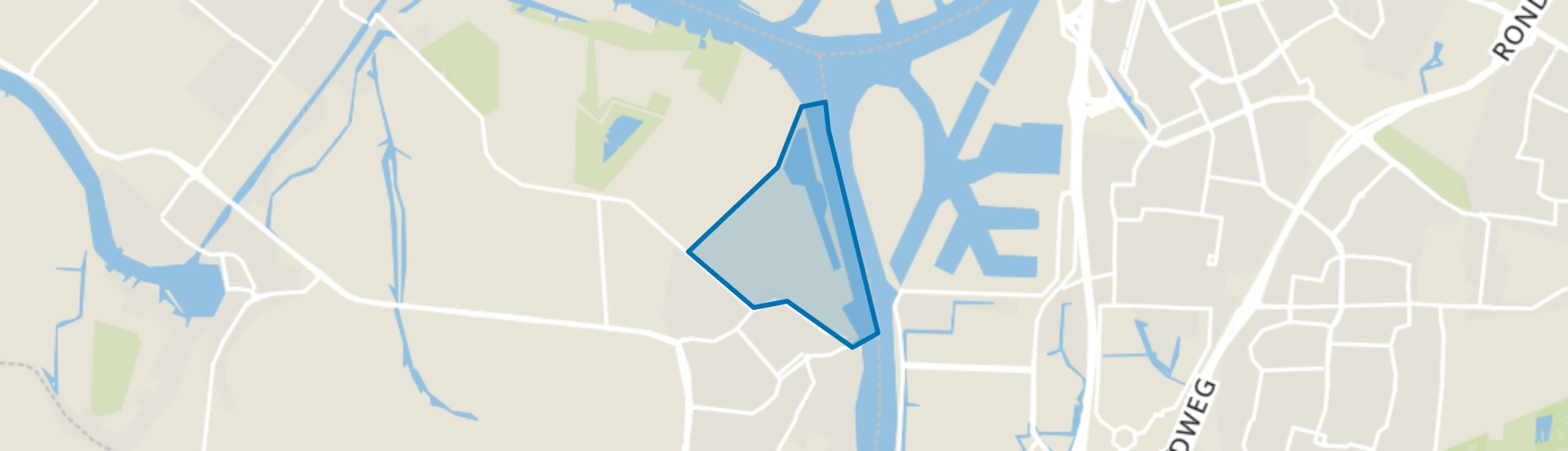 's-Gravendeel Bedrijventerrein Mijlpolder, 's-Gravendeel map