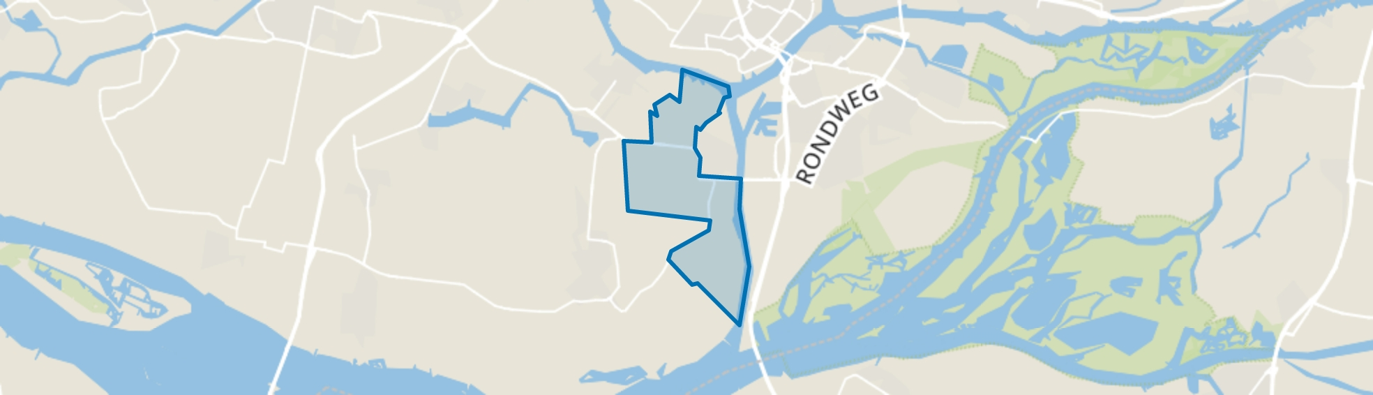's-Gravendeel Buitengebied, 's-Gravendeel map