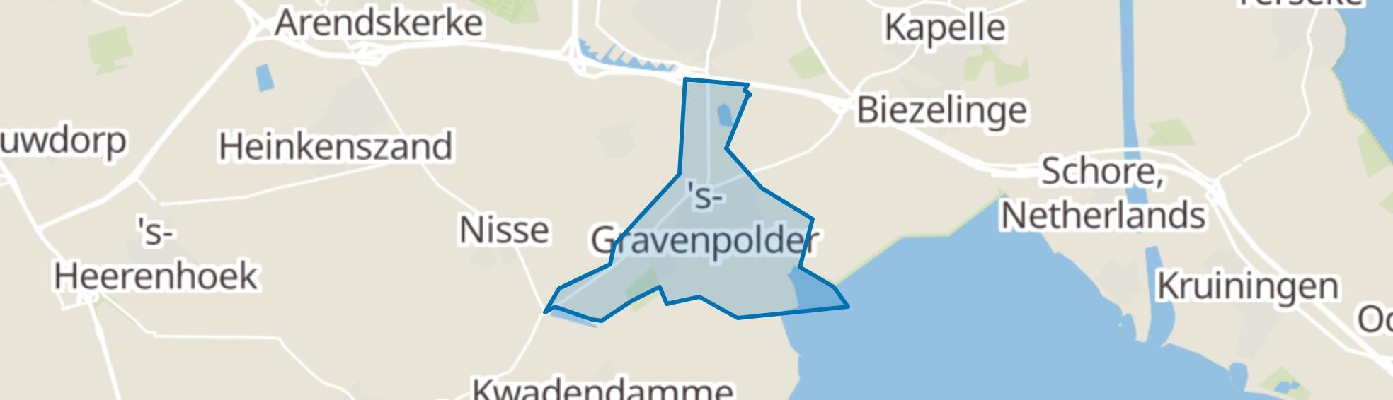 's-Gravenpolder map