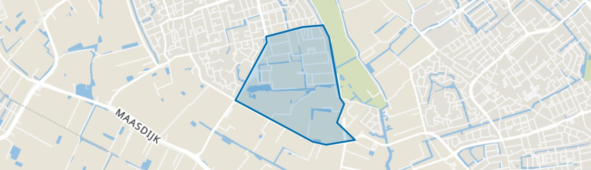 Bedrijventerrein Teylingen, 's-Gravenzande map