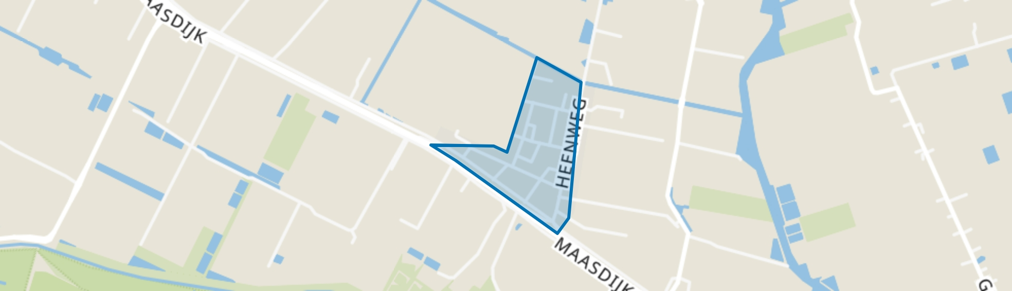 Heenweg, 's-Gravenzande map