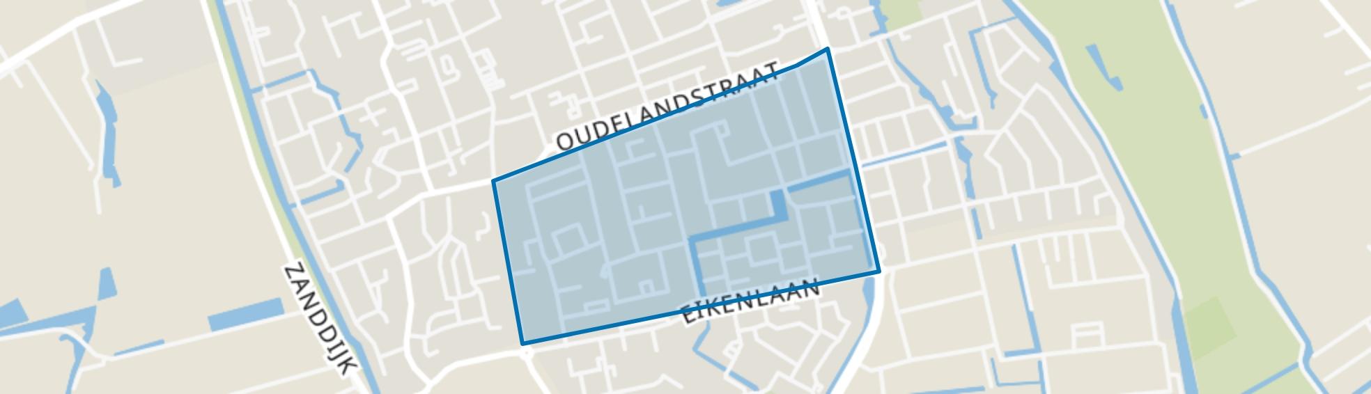 Oudeland, 's-Gravenzande map
