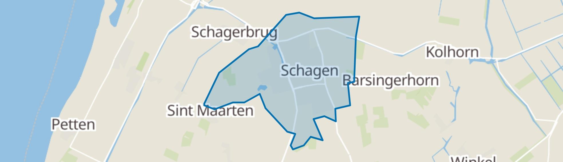 Schagen map